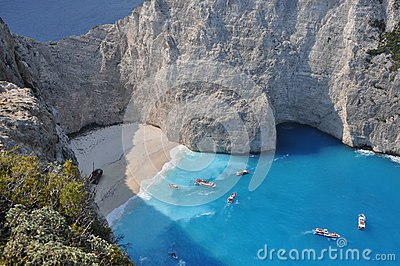 A panorama over Shipwreck Bay, Zante