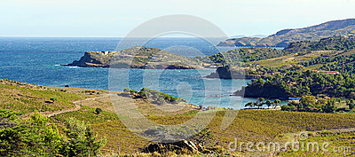 Panorama over the Vermilion Coast in Languedoc Roussillon