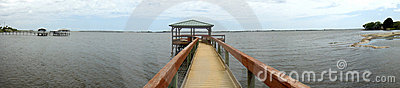 Panorama of Park on the Indian River