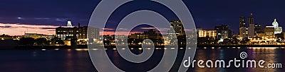 Panorama of Peoria at sunset. Editorial Stock Image