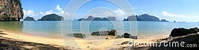 Panorama of Phang Nga Bay, Thailand