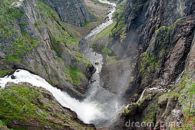 Panorama Picture Of Voeringfossen Waterfall Royalty Free Stock Photo - Image: 7795355