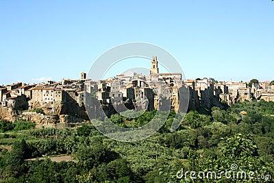 Panorama of Pitigliano (Tuscany, Italy)