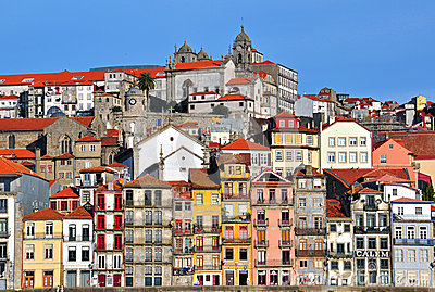 Panorama of Porto downtown Editorial Stock Photo