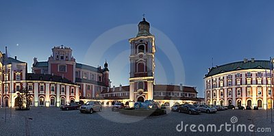 Panorama of Poznan in Poland Editorial Photography