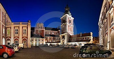 Panorama of Poznan in Poland Editorial Image