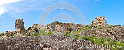 Panorama  Prehistoric ruins of cave-dwelling town