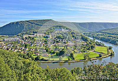 Panorama of revin city in france stock photo image 45629829 - Plateforme meuse champagne ardenne ...
