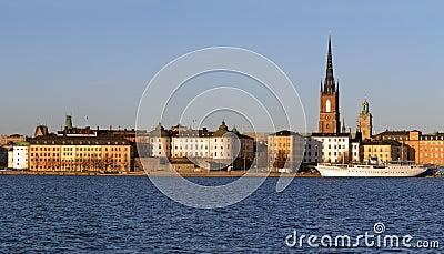 Panorama, Riddarholmen in Stockholm.