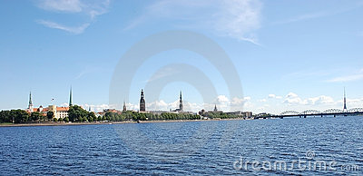Panorama of Riga,