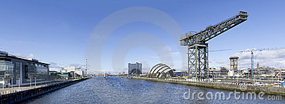 Panorama of River Clyde in Glasgow