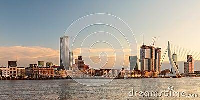 Panorama of the Rotterdam skyline