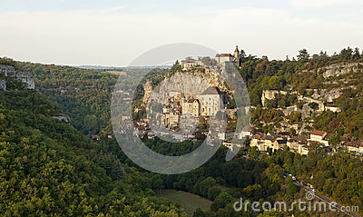 Panorama of Rocamadour from north