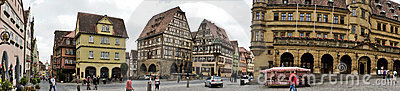 Panorama of Rothenburg Editorial Image