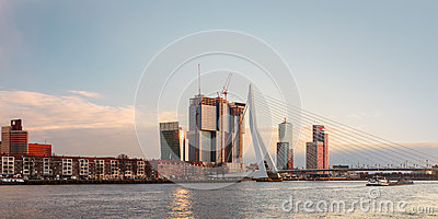 Panorama of the Rotterdam skyline