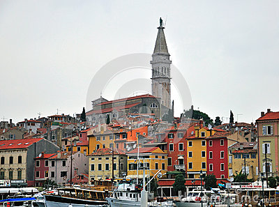 Panorama of Rovinj Editorial Photography