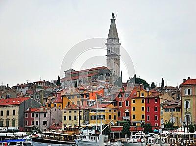 Panorama of Rovinj Editorial Photography