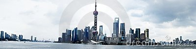 Panorama of Shanghai (the bund)