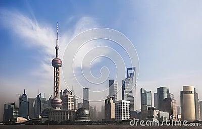 Panorama of Shanghai, China
