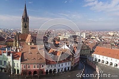 Panorama of Sibiu town
