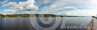 Panorama of siljan lake