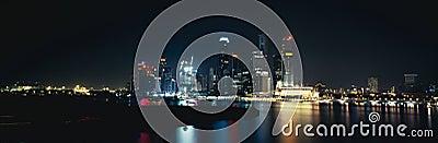 Panorama on Singapore city