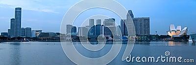 Panorama of Singapore over Marina Bay