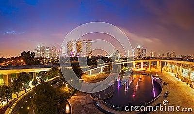 Panorama of Singapore skyline
