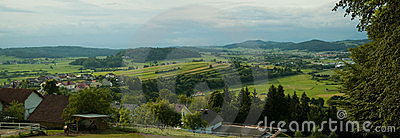 Panorama of Slovenian countryside
