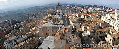 Panorama of small italian city Macerata