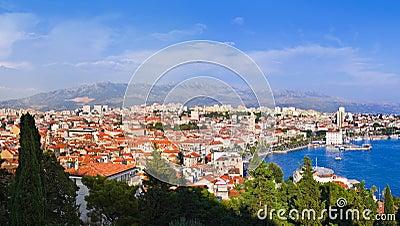 Panorama of Split, Croatia