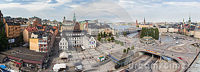Panorama of Stockholm. Sweden Editorial Stock Image