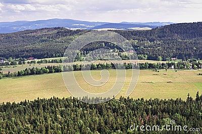 Panorama of Sudety mountains