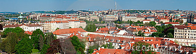Panorama of sunny Prague