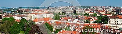 Panorama of sunny Prague