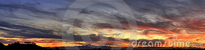 Panorama sunset (HDR)