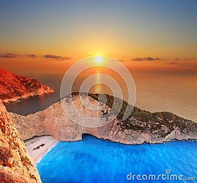 Sunset over Zakynthos