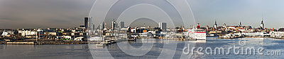 Panorama of Tallinn, Estonia Editorial Photo