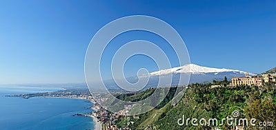 Panorama of Taormina