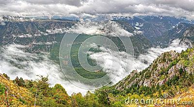 Panorama of Tara Canyon, UNESCO