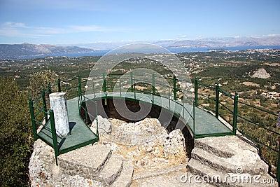 Panorama terrace in Pelekas (Corfu, Greece)