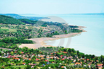 Panorama to Lake Balaton