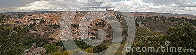 Panorama of the Toledo, Spain