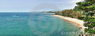 Panorama of tropical beach - Thailand, Phuket