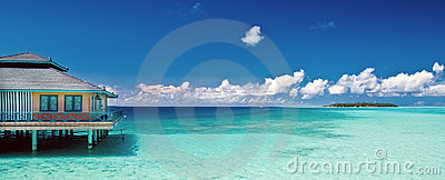 Panorama tropical de plage
