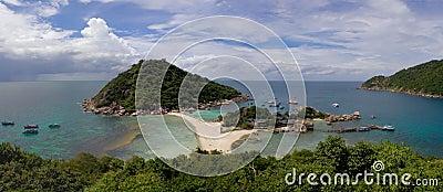 Panorama of the tropical island