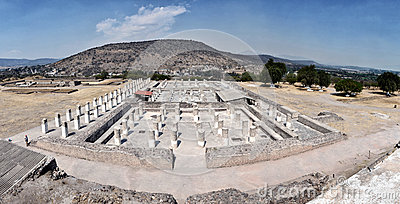 Panorama of Tula ruins, Mexico