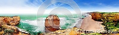 Panorama of Twelve apostles, Australia