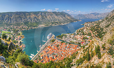 Panorama Unesco bay of Kotor,