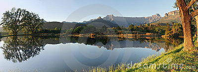 Panorama van Amphitheatre, Zuid-Afrika